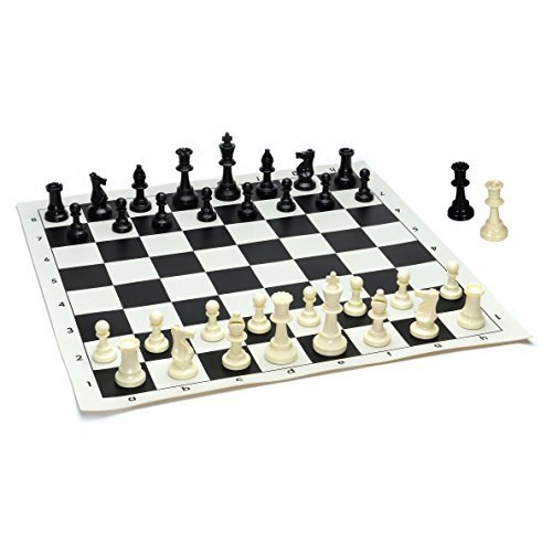 Chess Board & Plastic Chessmen
